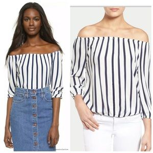 Cupcakes and Cashmere Elina Off Shoulder Top